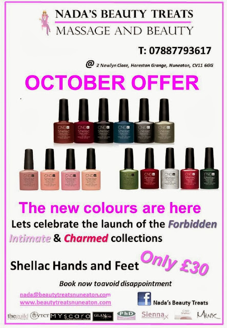 BRAMCOTE and KINETON HIVE: NADA'S Beauty Treats - October Offer