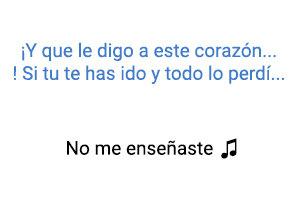 Thalía No Me Enseñaste significado de la canción.