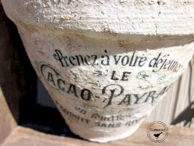 clay pot with transfer