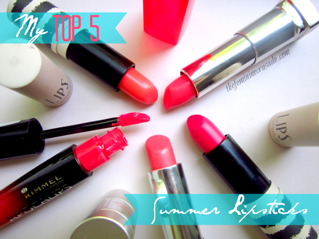 My Top 5 Summer Lipsticks
