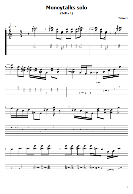 AC/DC - Moneytalks (Solo) (Guitar Tabs And Sheet Music)