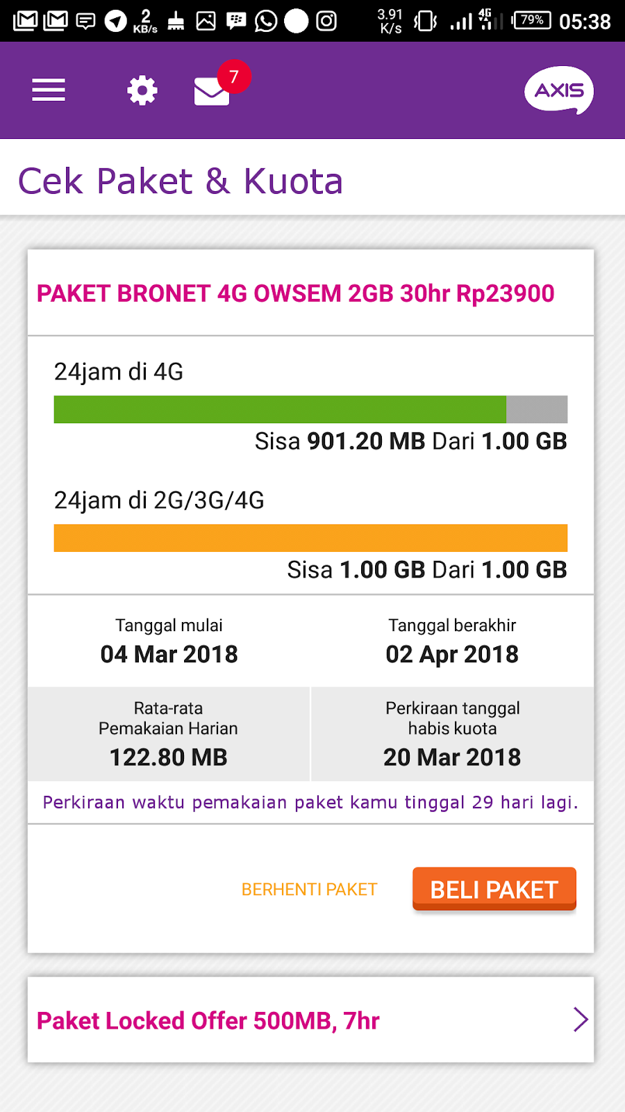 Pengalaman Upgrade Kartu 4g Axis Di Xl Center Paket Internet Bronet Owsem