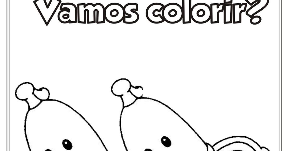 Riscos Para Colorir Gratis Desenho Bananas De Pijama Para Colorir