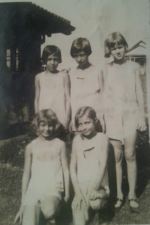 Nancy Gertrude Brumley Weik and childhood friends