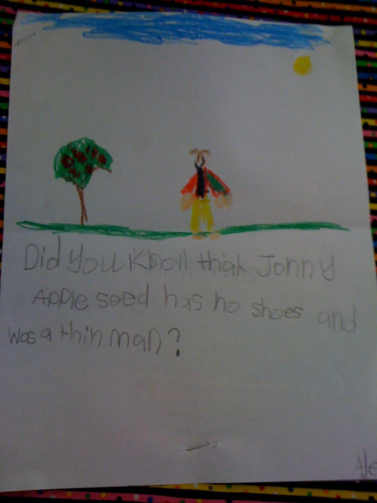 Bishop S Blackboard An Elementary Education Blog Johnny Appleseed