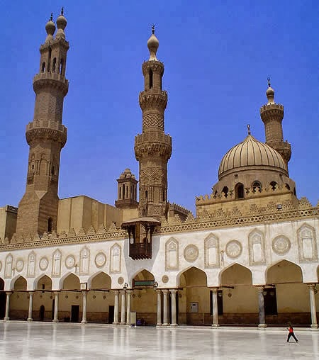 inside al-Azhar mosque