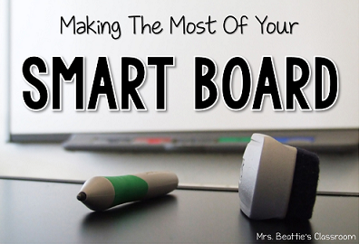 "SMART Board tools with text, ""Making the most of your SMART Board."""