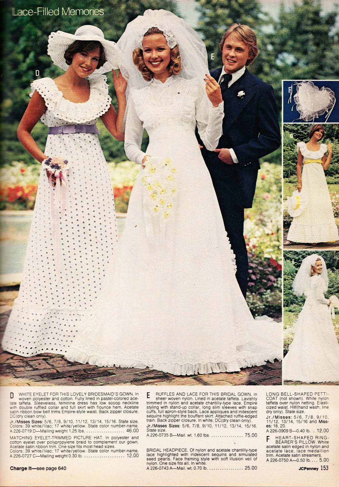 crazy catalog stuff part 4 say yes to wedding dresses sears Okay okay this dress costs 75 instead of 50 For my precious pumpkin I ll splurge for the extra 25 00 after all it s JCP instead of Sears so you d