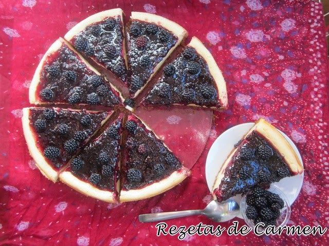 Tarta de queso con mermelada y  moras {Blackberry Cheesecake}