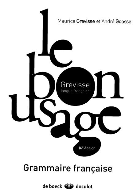 Le bon usage de Maurice Grevisse pdf à vendre