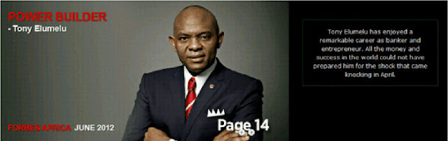 Tony Elumelu On The Cover Of Forbes Africa 2