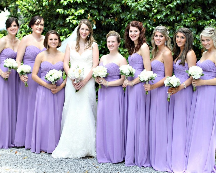 Lavender Purple Bridesmaid Dresses