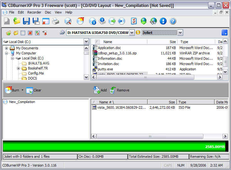 CD Burner XP 4 4 1 Build 3243 + Portable Free Download