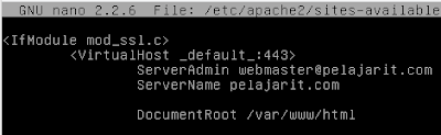 Konfigurasi SSL Linux Debian