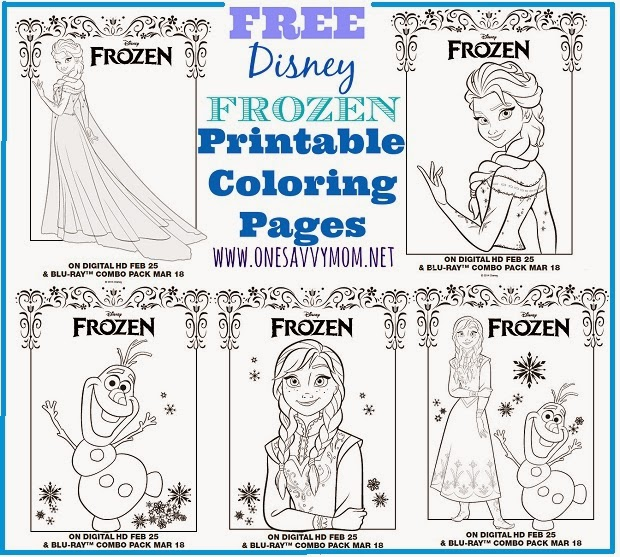 - One Savvy Mom ™ NYC Area Mom Blog: Disney Frozen Free Printable Anna,  Elsa And Olaf Coloring Pages - Grab A Box Of Crayons!