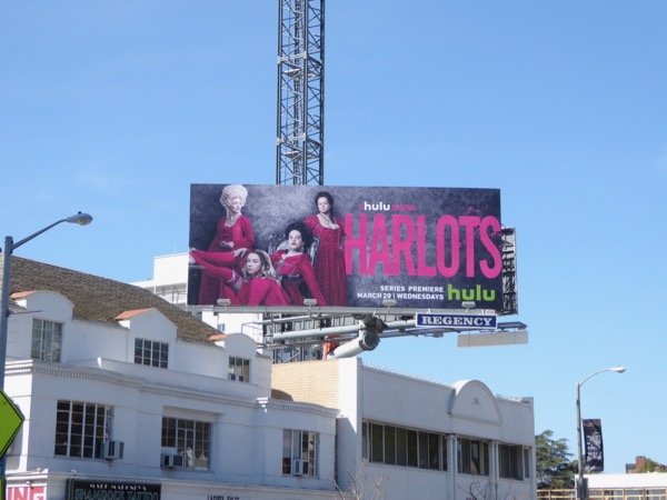 Harlots series launch billboard
