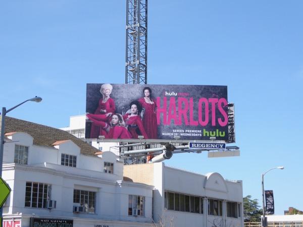 Harlots series launch billboard
