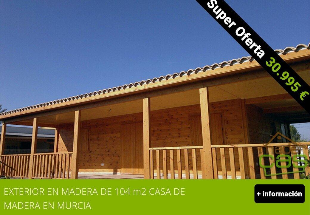 Casas de madera en murcia maderc s ofertas de casas de for Casas de madera ofertas
