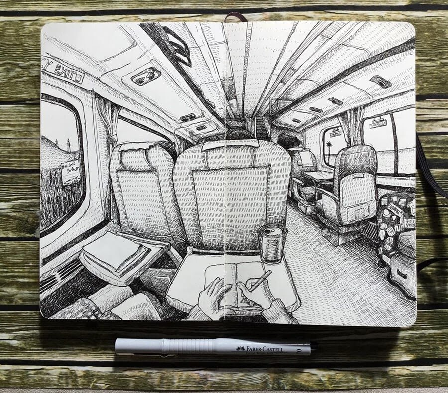 04-Pacific-Surfliner-Keir-Ross-Urban-Travel-Sketcher-www-designstack-co