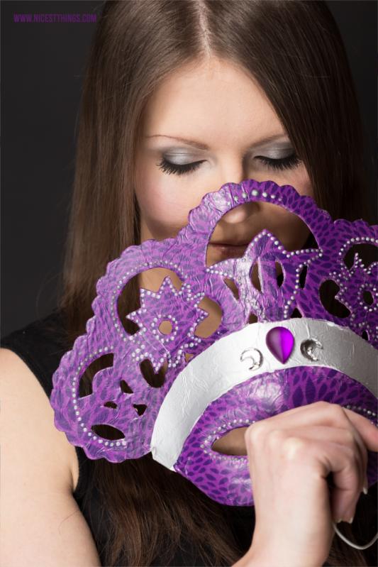 Decopatch Maske: DIY venezianische Masken basteln #decopatch #maske #diymaske #decopatchmaske #decopatchdiy #kostüm #karneval #venezianischemaske #diy #diykostüm