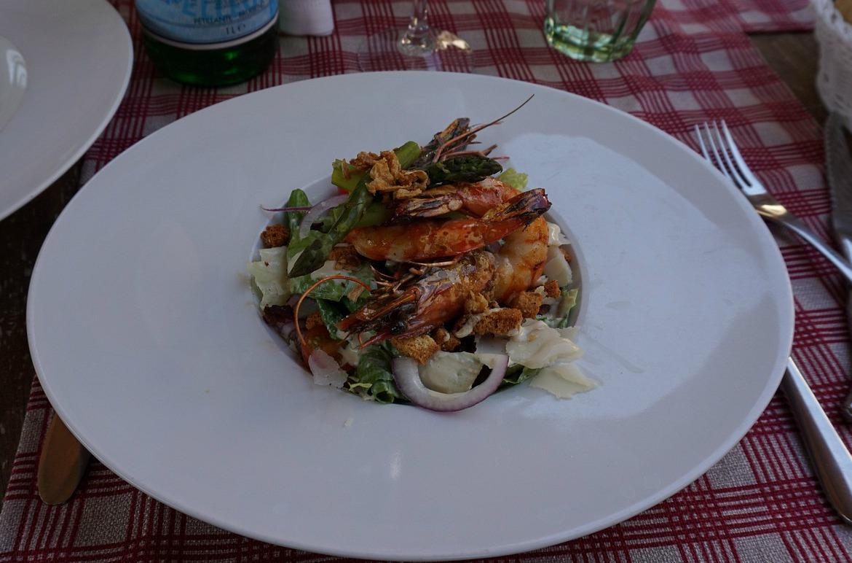 Caesar salad in Chateau de Berne Bistro