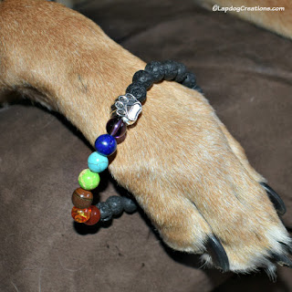 rescue dog paw Stretch Bracelet PawZaar