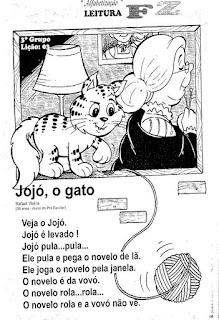 Leitura Jojó, o gato