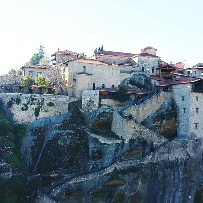 Jelena Zivanovic Instagram @lelazivanovic.Glam fab week.Megalo Meteoro Monastery of Transfiguration.