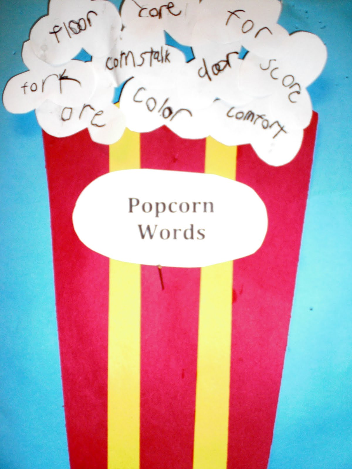 Patties Classroom Star Ar Words And Popcorn Or Words