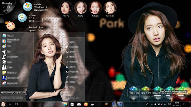 Windows 10 Ver. 1703/1709 Theme Park Shin Hye by Enji Riz