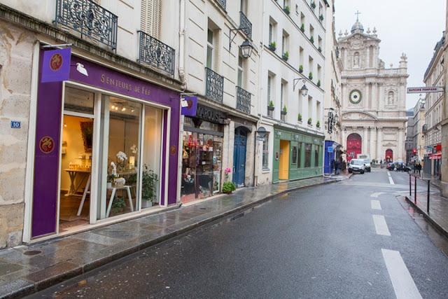 Ruas de lojas em Paris