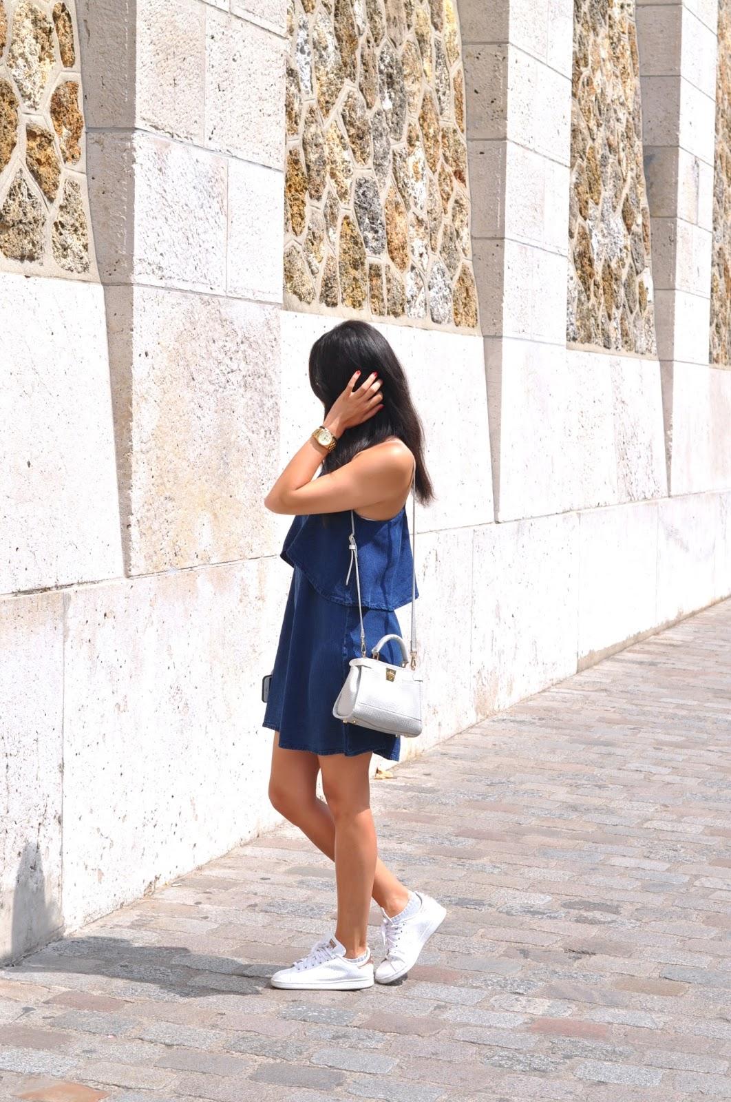 Robe mango bleue