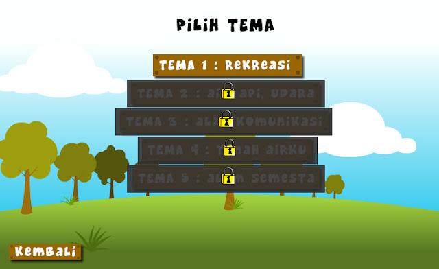 pilih level game/tema game