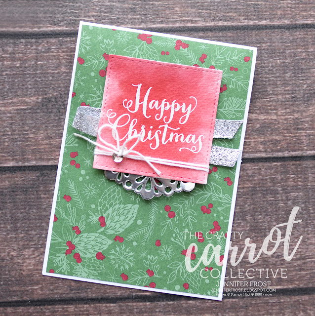 Oh What Fun, This Christmas, Stampin' Up!, Christmas Card, Papercraft by Jennifer Frost, The Crafty Carrot Collection