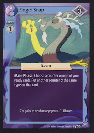 My Little Pony Finger Snap The Crystal Games CCG Card
