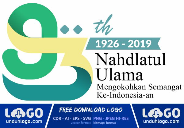 Logo Harlah NU 93 Tahun 2019
