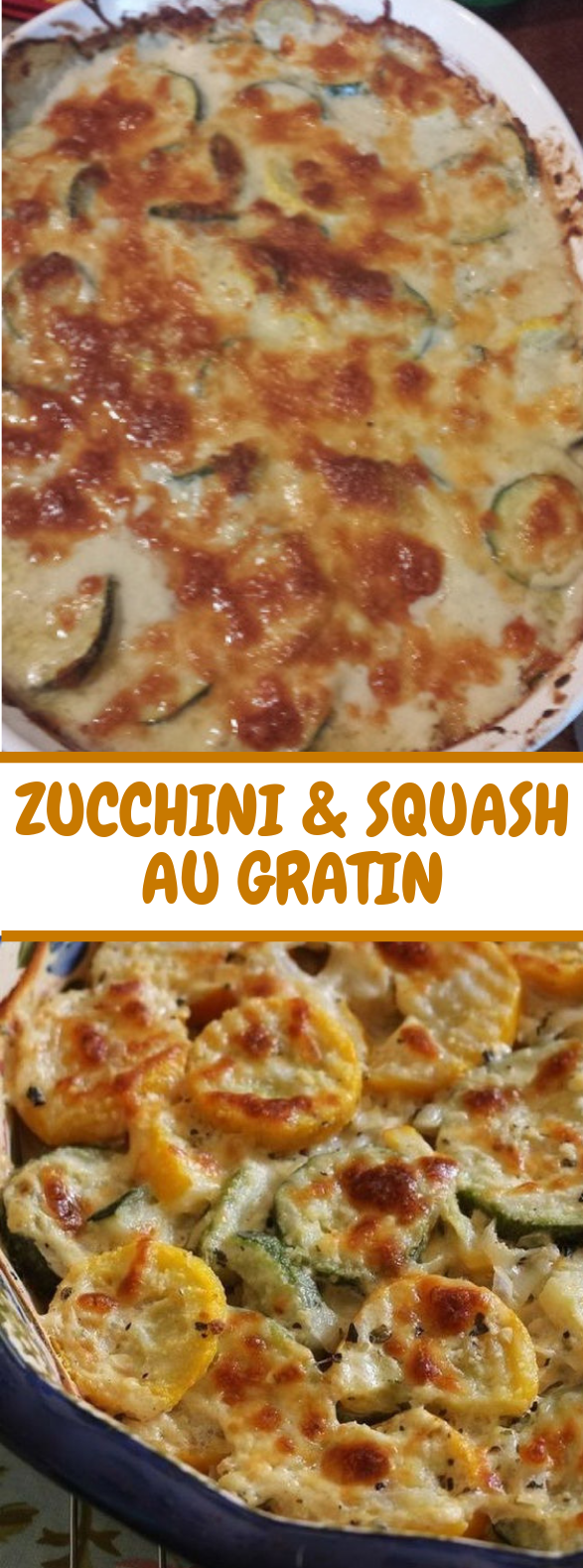 Zucchini and Squash Au Gratin #lowcarb #vegetarian