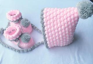 Crochet, Crochet Baby, Pixie Bonnet Baby Crochet Set