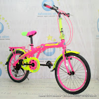 20 Inch Exotic 2658 Color Rainbow 6 Speed Folding Bike