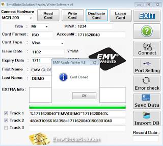 Emv chip writer tools: emv writer reader software v8.