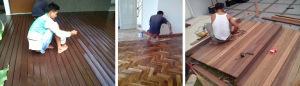 Cara mengukur dan biaya pasang lantai kayu parket