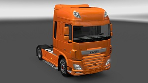 DAF Euro 6 tuning - painted parts