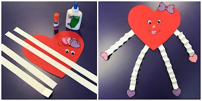 Valentine storytime craft, valentine's day craft, heart craft