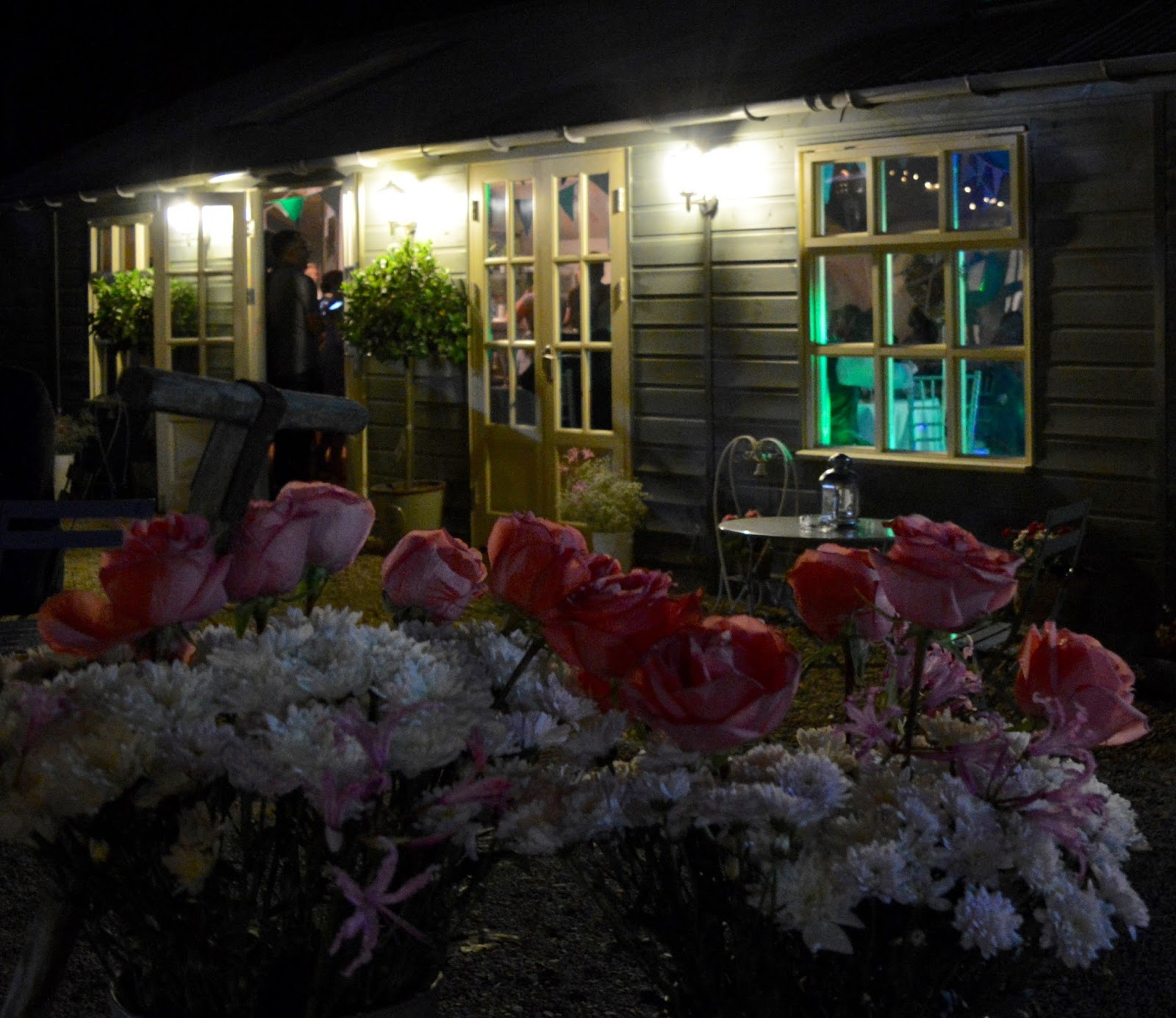 Weddings at The Parlour at Blagdon in Northumberland - Evening Outbuildings, fairy lights and candles
