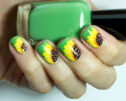 The Nail Network: Spring Sunflower Nail Art