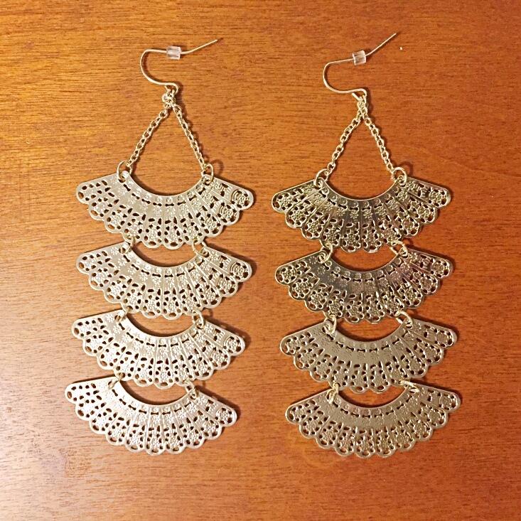 gold statement earrings