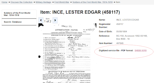 Remembering the WWI Service of Lester Edgar Ince