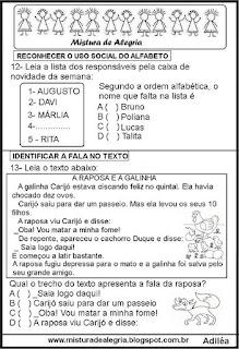 Simulado de português 3º ano com gabarito