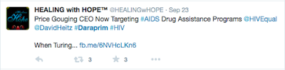 Price Gouging CEO Now Targeting #AIDS Drug Assistance Programs @HIVEqual