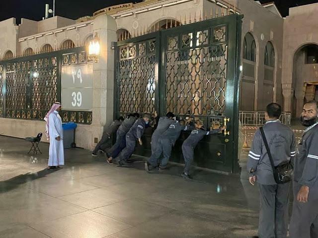 Masjid Nabawi ditutup akibat Corona